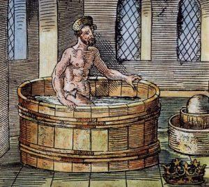 入浴中のアルキメデス