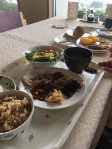 農園ホテルの朝食