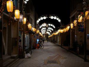 阿佐ヶ谷七夕まつり前夜の道