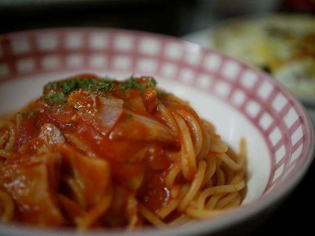 トマトとベーコンのスパゲッティ
